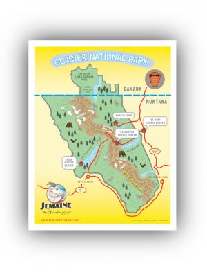 Glacier National Park Map/Poster
