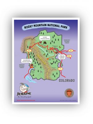 Rocky Mountain National Park Map/Poster