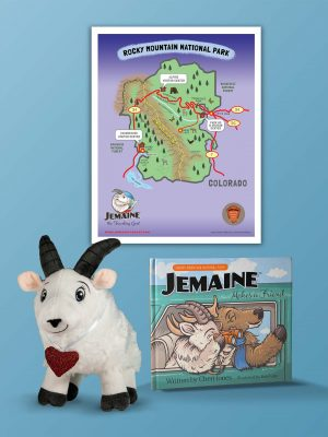 Jemaine Makes a Friend Book+Plush+Map Gift Set